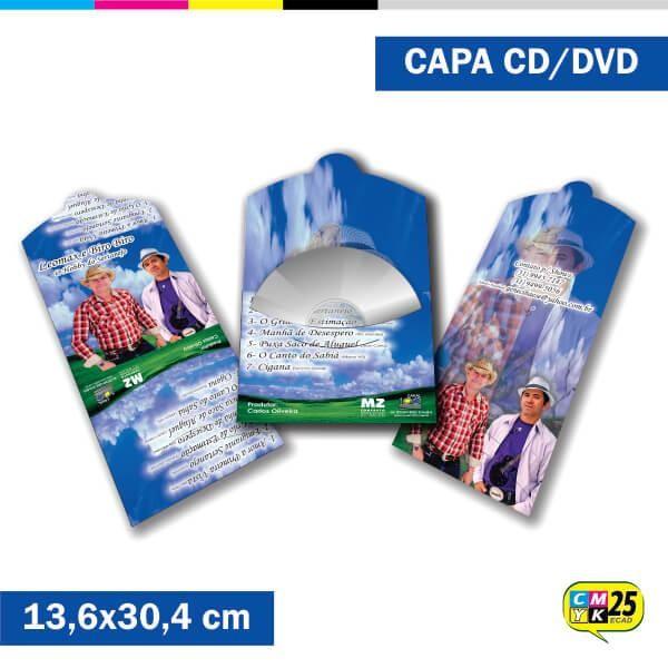 Detalhes do produto Capa de CD e DVD - 4x4 cores - 1.000 Unid.