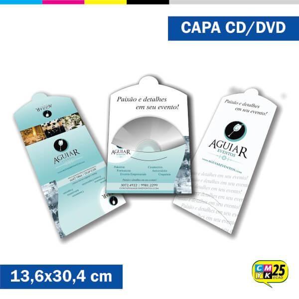 Detalhes do produto Capa de CD e DVD - 4x1 cores - Laminação Fosca - Verniz Localizado - 1.000 Unid.