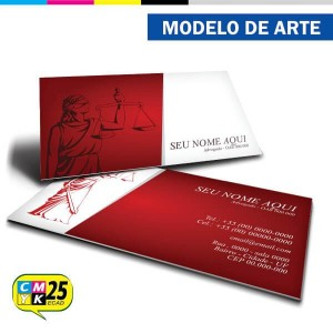 Detalhes do produto Cartão de Visita Advogado - Vermelho e Preto