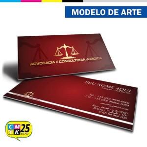 Detalhes do produto Cartão de Visita Advogado - Vermelho e Dourado