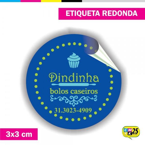 Detalhes do produto Etiqueta Redonda em Vinil - 3x3cm