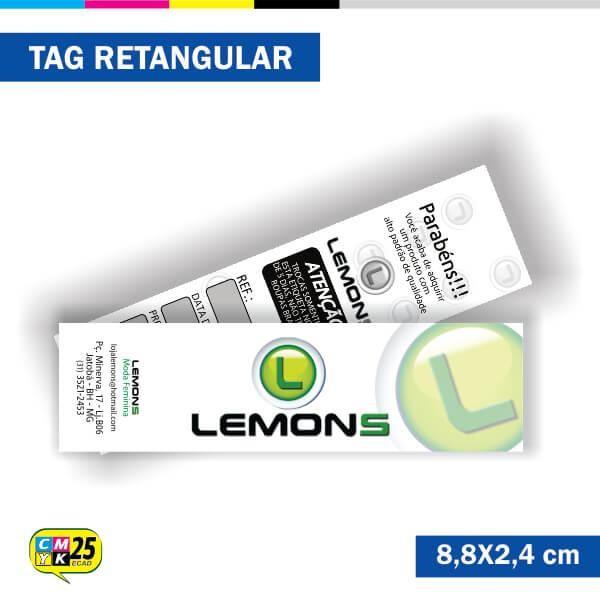 Detalhes do produto Tag  4x1 - Retangular - 2000 Unid. - 8,8x2,4cm