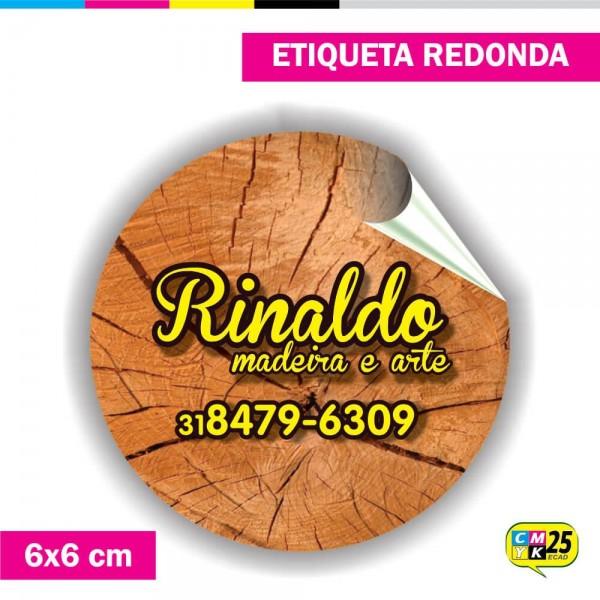 Detalhes do produto Etiqueta Redonda em Vinil - 6x6cm