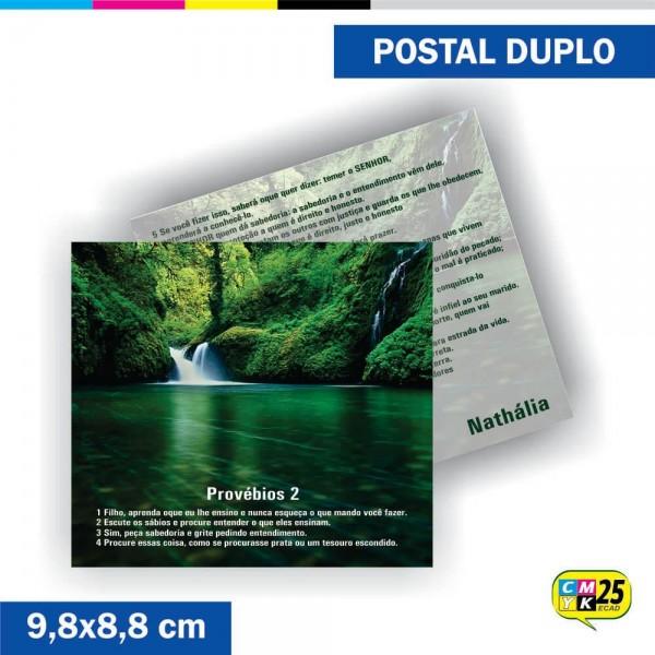 Detalhes do produto Postal Duplo - 4x4 Cores - Verniz Total Frente