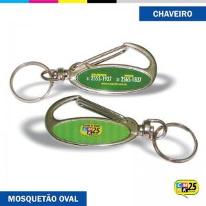 Detalhes do produto Chaveiro Mosquetão Oval