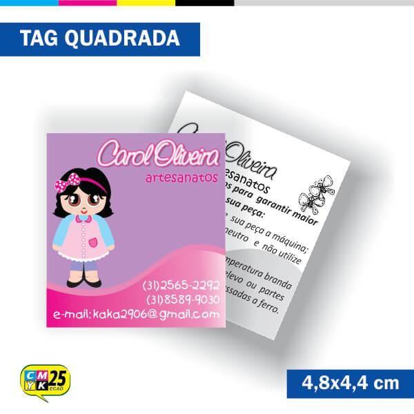 Detalhes do produto Tag 4x1 - Quadrada - 2000 Unid. - 4,8x4,4cm