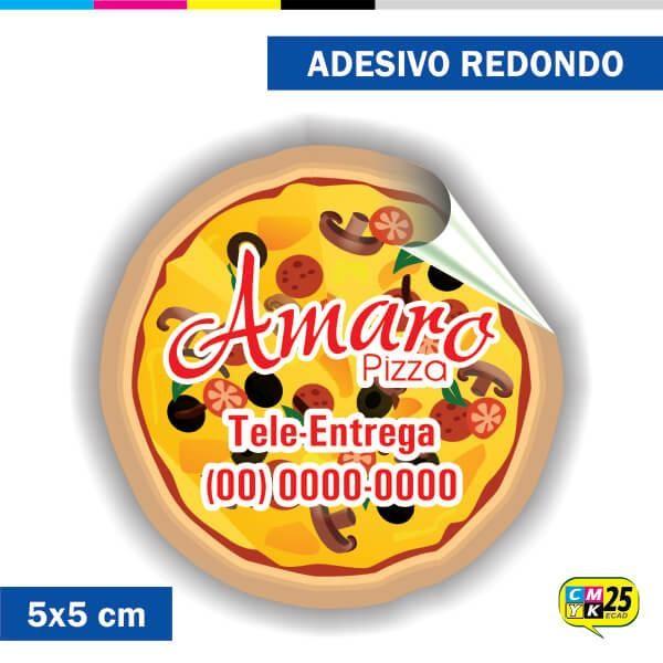 Detalhes do produto Adesivo Redondo em Papel - 5x5cm