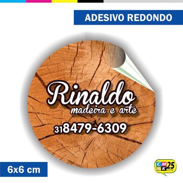 Detalhes do produto Adesivo Redondo em Papel - 6x6cm