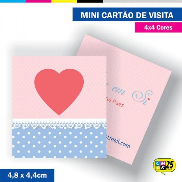 Detalhes do produto Mini Cartão de Visita - 4x4 cores - 4,8x4,4cm