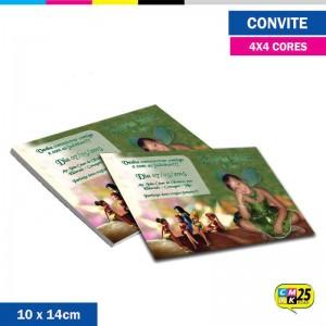 Detalhes do produto Convite 10x14cm - 4x4 Cor