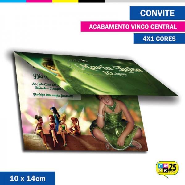 Detalhes do produto Convite 10x14cm - 4x1 Cor - Vincado