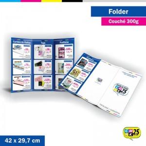 Detalhes do produto Folder 3 Bandeiras - 42x29,7cm - Couché 300g - 4x4 Cores - 1.000 Unid.