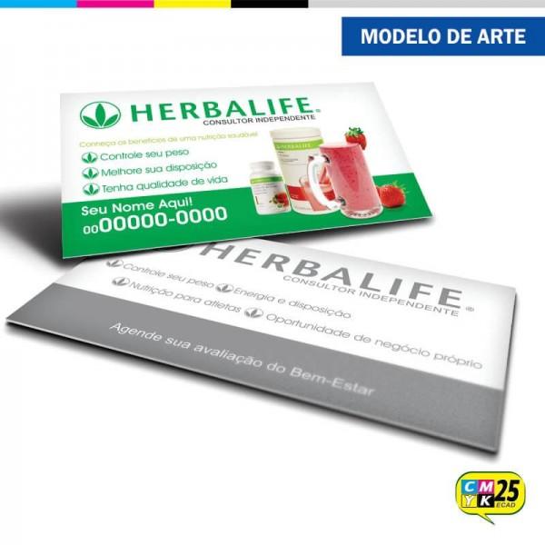 Detalhes do produto Cartão de Visita Herbalife - 02