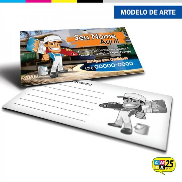 Detalhes do produto Cartão de Visita Pintor - 01
