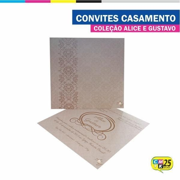 Detalhes do produto Convite de Casamento - Coleção Alice e Gustavo