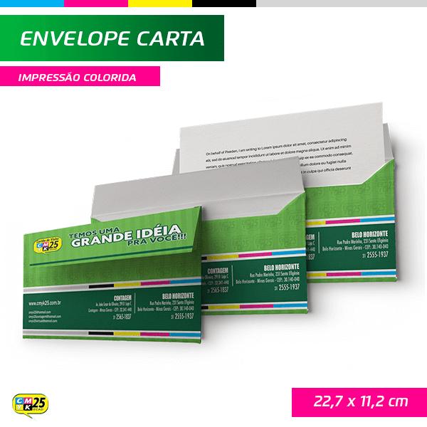 Detalhes do produto Envelope Carta - 22,7x11,2cm - Impressão Colorida
