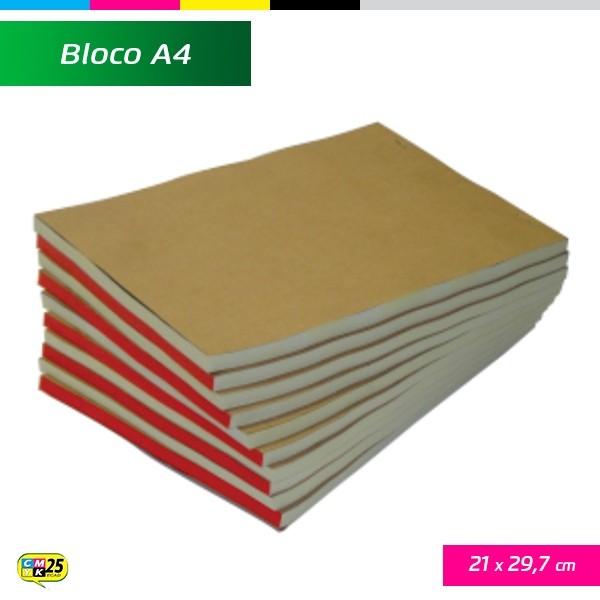 Detalhes do produto Talão A4 - 21x29,7cm - 10 Blocos 50x2 Vias - Autocopiativo