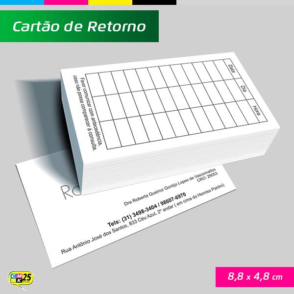 Detalhes do produto Cartão de Retorno - 4x1