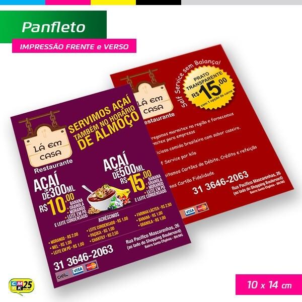 Detalhes do produto Panfleto A6 - 4x4 - 10X14cm