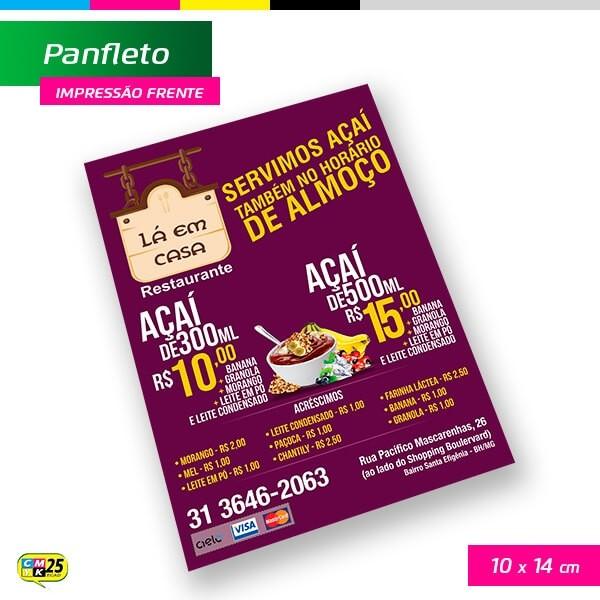 Detalhes do produto Panfleto A6 - 4x0 - 10X14cm - 10.000 Unid.