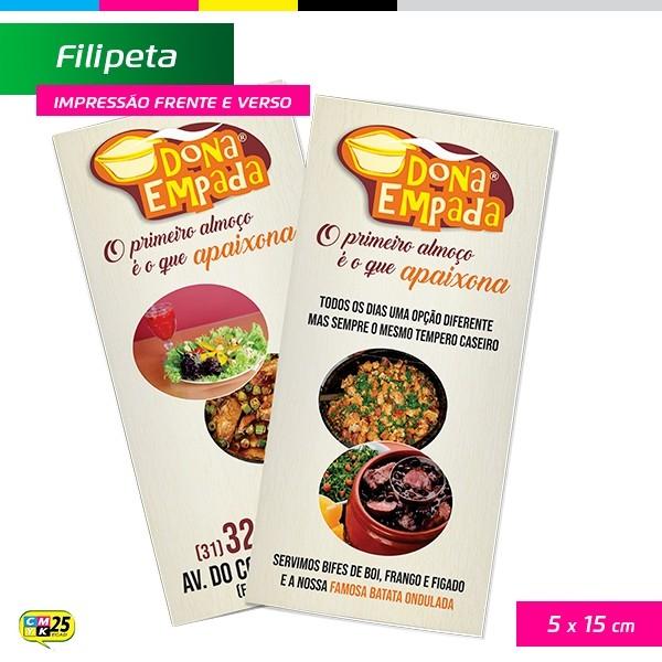 Detalhes do produto Filipeta - 4x4 - 5x15cm - 10.000 Unid + Arte Final