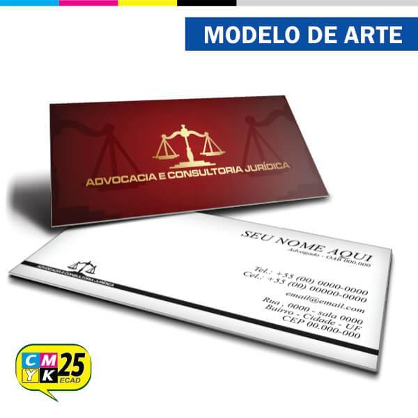 Cartão de Visita Advogado - Vermelho e Dourado