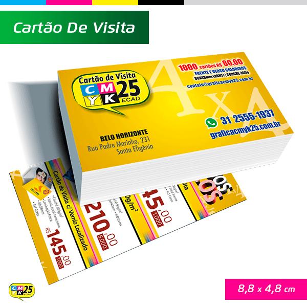 Cartão de Visita - 4x4 - 1000 Unid.