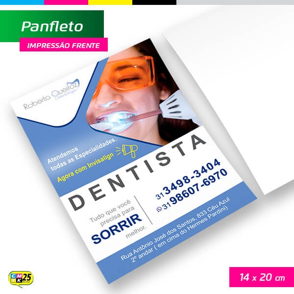 Panfleto A5 - 4x0 - 14x20cm - 10.000 Unid.