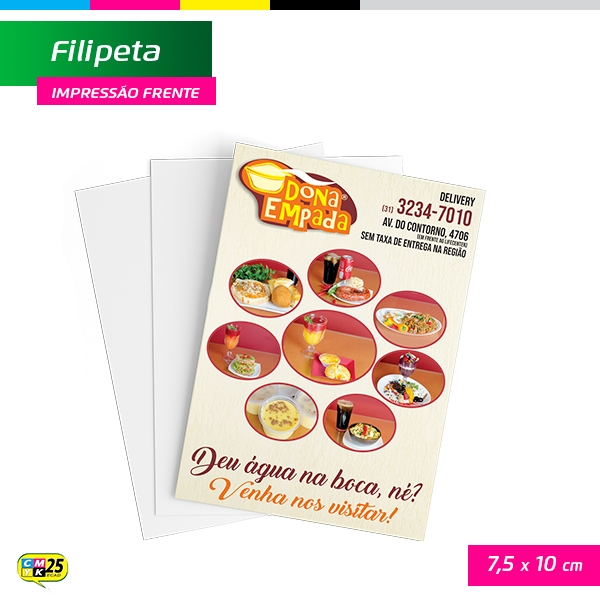 Filipeta - 4x0 - 5x15cm - 10.000 Unid